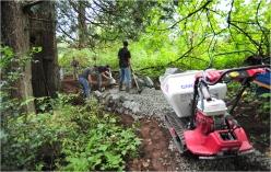 Building trail tread...